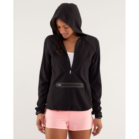 lululemon athletica Tops - Lulu Stash & Dash Pullover Rain Hoodie Reflective